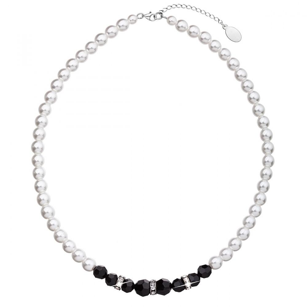 Perlový náhrdelník černo bílý 32013.1 ee0f29a27e4